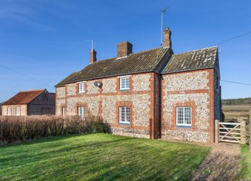 Thumbnail 3 bed semi-detached house for sale in Hall Lane, West Lexham, King's Lynn