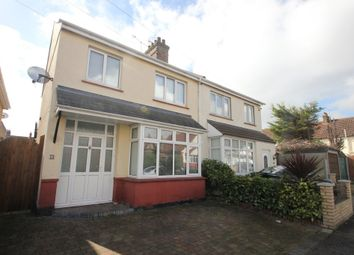 Thumbnail 3 bedroom semi-detached house for sale in Cumberland Avenue, Southend-On-Sea