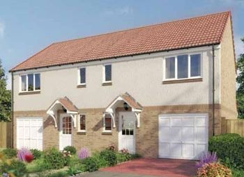 "Thumbnail 3 bed semi-detached house for sale in ""The Newton"" at Dunlop Road, Stewarton, Kilmarnock"