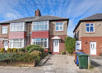 Thumbnail 3 bed semi-detached house for sale in Fernwood Avenue, Gosforth, Newcastle Upon Tyne