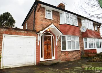 Thumbnail 4 bed semi-detached house to rent in Orchard Grove, Burnt Oak, Edgware