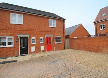 Thumbnail 2 bedroom semi-detached house to rent in Verbena Road, Cringleford, Norwich