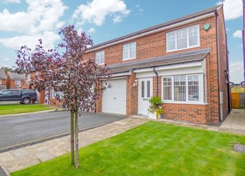 Thumbnail 3 bed semi-detached house for sale in Foxcover, Linton Colliery, Morpeth
