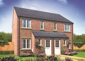 "Thumbnail 2 bed end terrace house for sale in ""The Alnwick"" at Brookside, East Leake, Loughborough"