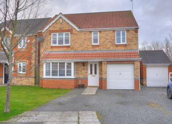Thumbnail 4 bedroom detached house for sale in Willowbrook Close, Bedlington