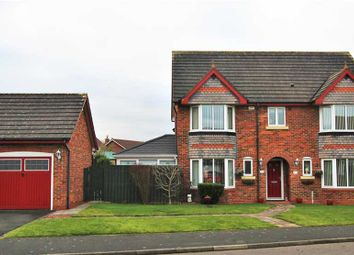 Thumbnail 4 bed detached house for sale in Dover Close, Hazelmere, Bedlington