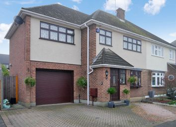 Thumbnail 4 bed semi-detached house for sale in Carswell Close, Hutton, Brentwood