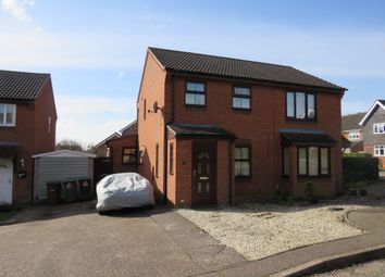 Thumbnail 3 bed semi-detached house for sale in Sawmill Close, Wymondham