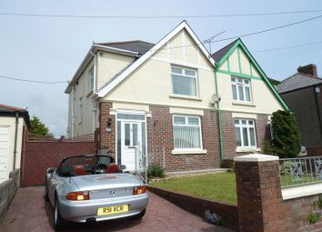 Thumbnail 3 bed semi-detached house to rent in Wyndham Crescent, Bridgend