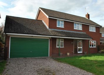 Thumbnail 4 bed detached house to rent in Eckford Park, Wem, Shropshire
