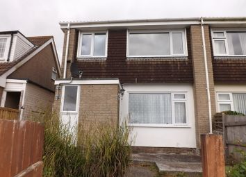 Thumbnail 3 bed semi-detached house to rent in Polgrain Road, Tolvaddon, Camborne