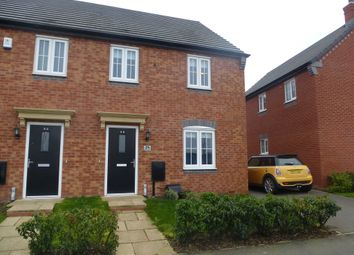 Thumbnail 3 bed semi-detached house for sale in Crimson Way, Burbage, Hinckley
