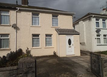 Thumbnail 2 bed semi-detached house for sale in Collwyn Road, Pyle, Bridgend