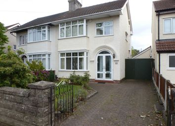 Thumbnail 3 bed semi-detached house to rent in Elgar Avenue, Eastham, Wirral