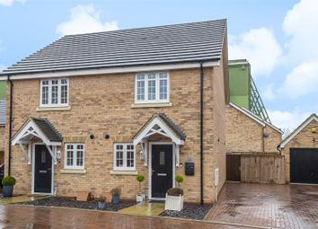 Thumbnail 2 bed semi-detached house for sale in Key Croft, Shortstown, Bedford