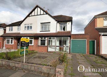 Thumbnail 3 bedroom semi-detached house for sale in Langleys Road, Birmingham, West Midlands.