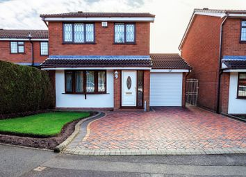 Thumbnail 3 bed detached house for sale in Meadow Way, Heath Hayes, Cannock