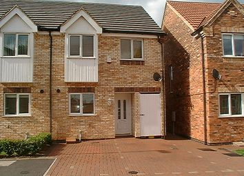 Thumbnail 3 bedroom semi-detached house to rent in Torkard Court, Hucknall, Nottingham