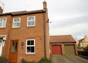 Thumbnail 2 bedroom end terrace house to rent in Holme Road, Market Weighton, York