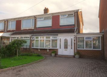Thumbnail 3 bed semi-detached house for sale in Woolerton Drive, Newcastle Upon Tyne