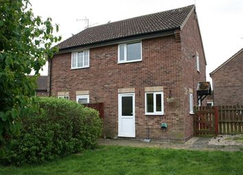 Thumbnail 2 bed semi-detached house to rent in Blackthorn Close, Thetford
