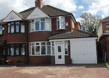 Thumbnail 3 bedroom semi-detached house for sale in Bentley Road, Castle Bromwich, Birmingham