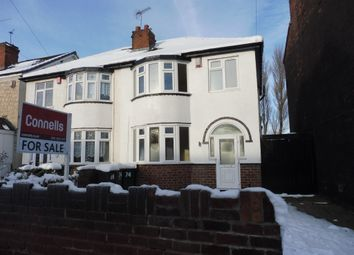 Thumbnail 3 bedroom semi-detached house for sale in Vicarage Road, West Bromwich