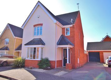 Thumbnail 3 bed detached house for sale in Luscombe Way, Rackheath, Norwich