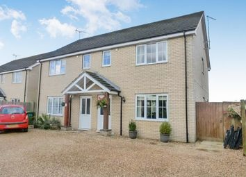 Thumbnail 3 bedroom semi-detached house to rent in Station Avenue, Murrow, Wisbech
