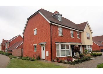 Thumbnail 4 bed semi-detached house for sale in Baldwin Place, Kings Hill, West Malling