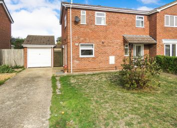 Thumbnail 3 bed semi-detached house for sale in Meadow Close, Little Paxton, St. Neots