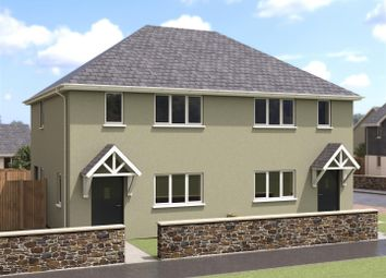 Thumbnail 2 bed semi-detached house for sale in Halt Road, St. Newlyn East, Newquay