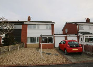 Thumbnail 3 bed semi-detached house for sale in Barnfield, Much Hoole, Preston