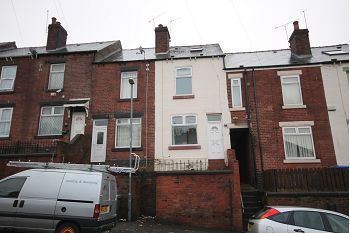Thumbnail 3 bed terraced house to rent in Osgathorpe Road, Sheffield