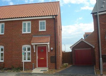 Thumbnail 2 bedroom semi-detached house to rent in Juniper Road, Bury St. Edmunds