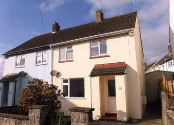 Thumbnail 2 bed semi-detached house to rent in Poldrea, Tywardreath, Par