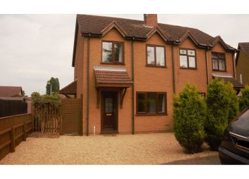 Thumbnail 2 bed semi-detached house for sale in Sir Isaac Newton Close, Holbeach