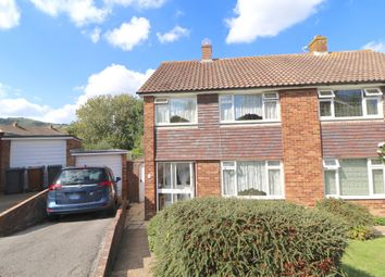 Thumbnail 3 bed semi-detached house for sale in Canterbury Close, Eastbourne, East Sussex
