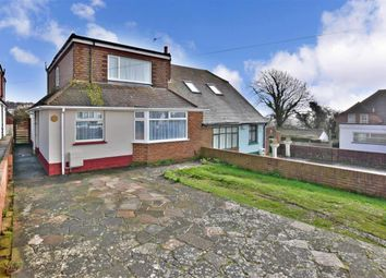 Thumbnail 4 bed semi-detached bungalow for sale in Downsway, Brighton, East Sussex