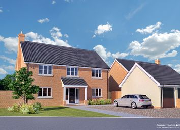 Thumbnail 4 bed detached house for sale in Tuns Road, Necton