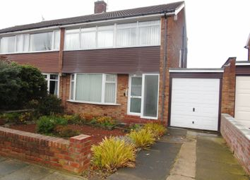 Thumbnail 3 bed semi-detached house to rent in Highcross Road, North Shields