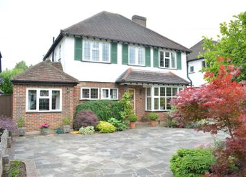 Thumbnail 4 bed detached house for sale in Woodcote Hurst, Epsom