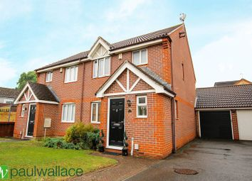 Thumbnail 3 bedroom semi-detached house for sale in Pettys Close, Cheshunt, Waltham Cross