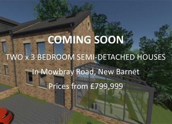 Thumbnail 3 bed semi-detached house for sale in Mowbray Road, New Barnet, Hertfordshire