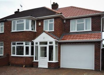 Thumbnail 4 bed semi-detached house to rent in Chislehurst Avenue, Leicester