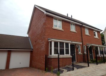Thumbnail 3 bedroom semi-detached house to rent in Meridian Rise, Ipswich