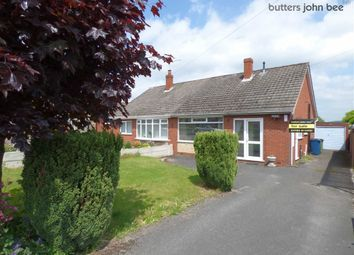 Thumbnail 2 bed semi-detached bungalow for sale in Copeland Avenue, Tittensor, Staffordshire