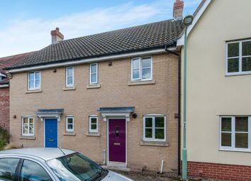 Thumbnail 2 bed terraced house for sale in Bulrush Crescent, Bury St. Edmunds