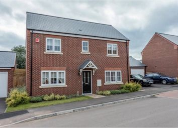 Thumbnail 4 bed detached house for sale in Long Meadow Way, Leicester