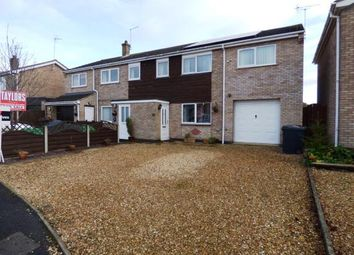 Thumbnail 4 bed semi-detached house for sale in Fernie Close, Newborough, Peterborough, Cambridgeshire